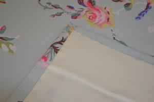 Curtain hem and corner