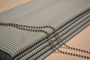 Teal Stripe Roman Blind (2)
