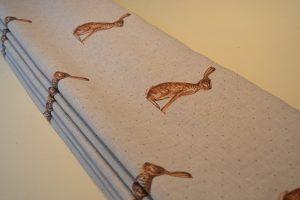 Peony & Sage Hares roman blind