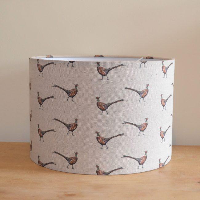 Pheasant lampshade