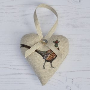 Pheasant hanging heart